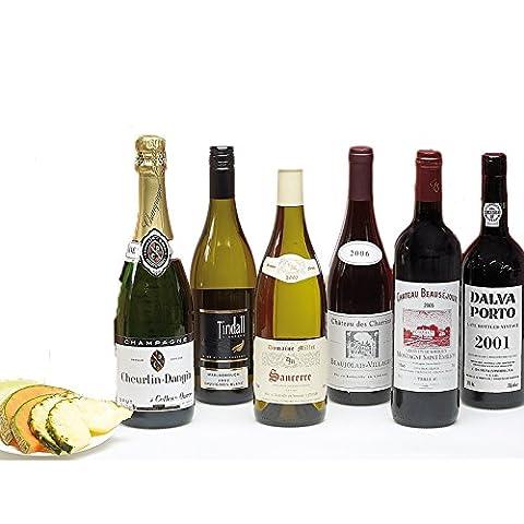 Hay Hampers Classic Six Bottle Wine Case in Wooden Box