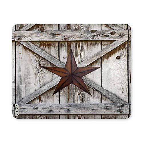 Luancrop West-Texas-Stern auf rustikalem altem Scheunen-Holz-Rechteck-rutschfestem Gummi-Mousepad, Spiel-Mausunterlage-Mausunterlage für Büro-Zuhause-Frauen-Mann-Angestellt-Chef-Arbeit -
