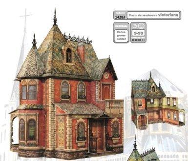 3d puzzle casa di bambola vittoriana carta intelligente 14283 for Casa vittoriana in mattoni