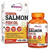 #2: StBotanica Salmon Fish Oil Omega-3 1000mg, 180mg EPA, 120mg DHA - 60 Enteric Coated Softgels