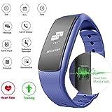 ROGUCI monitor de frecuencia cardíaca rastreador de ejercicios podómetro sueño seguimiento del sueño de la pulsera y la correa de la aptitud de la frecuencia cardíaca con la banda de monitores de pulso / Pulso función de vibrador