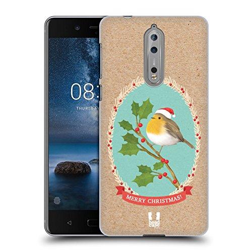 Head Case Designs Rotkelchen Weihnachtsklassiker 2 Ruckseite Hülle für Nokia 8