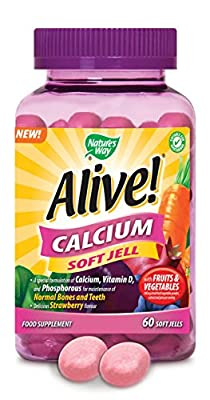 (2 Pack) - Nature's Way - Alive! - Calcium Soft Jell | 60 Chewables | 2 PACK BUNDLE from Nature's Way