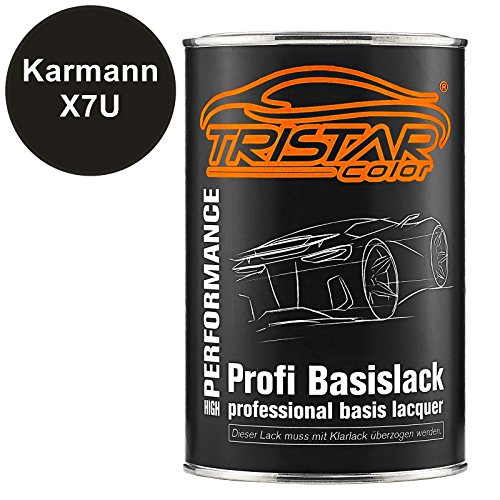 Preisvergleich Produktbild Autolack Set Dose spritzfertig Karmann X7U Oolonggrau Metallic / Oolong Gray Metallic Basislack 1, 0 Liter 1000ml