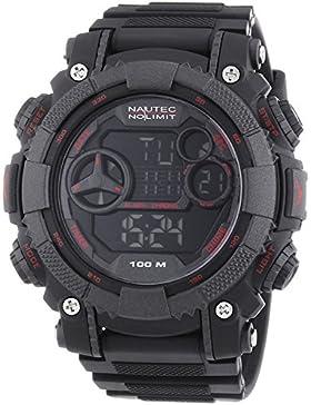 Nautec No Limit Herren-Armbanduhr XL Akula D Digital Quarz Plastik AK QZ-D/PCRDPCBKBK-RD