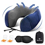 Blusmart Travel Pillow, Soft & Comfortable Memory Foam Neck Pillow for Head