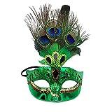 Snner Make-up Maske Prom Maske Pfau-Feder-Schablonen-Partei venezianischer Maskerade Maske Maske für Damen Grün