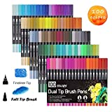 Best Brush Tip Markers - Dual Tip Brush Pens dual brush markers Non-Toxic Review