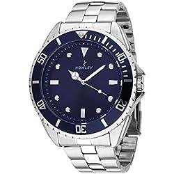 Reloj NOWLEY 8-5278-0-2 - Reloj hombre 3 atm con caja de acero y bisel giratorio, cristal mineral y armys de acero.