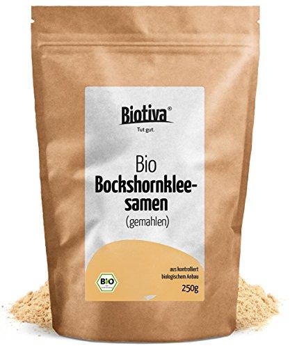 Bockshornklee Die Milch (Bockshornklee-Samen, gemahlen (250g, Bio) I Bockshornklee soll appetitfördernd wirken I Zutat in jedem Curry I In Deutschland abgefüllt und kontrollierte Bio-Qualität (DE-ÖKO-005))