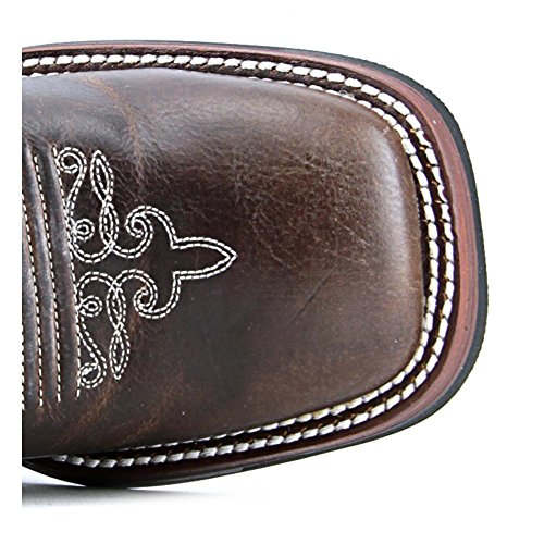 Tony Lama RR2015L Cuir Santiags Saddle Brown Travis-Golden Tan Tamarosa