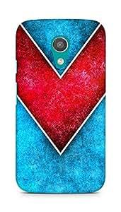 Amez designer printed 3d premium high quality back case cover for Motorola Moto G2 (Line Color 1)