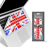 iBenzer - Macaron Serie UK Flag Keyboard Cover Silicone Rubber Skin for Macbook Pro 13'' 15'' 17'' (with or without Retina Display) Macbook Air 13'' and iMac - UK Flag MKC02UKFL