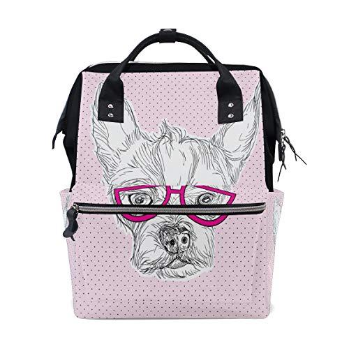 Brille Hund Beliebte Stil Große Kapazität Wickeltaschen Mama Rucksack Multi Funktionen Windel Pflege Tasche Tote Handtasche Für Kinder Babypflege Reise Täglichen Frauen