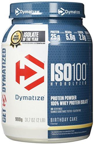 Dymatize Whey Protein Hydrolysat + Isolat – Premium Eiweißpulver – Protein Shake / 900 g Birthday Cake