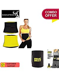 d86f135f9c SIGNATRON Combo Offer Hot Waist Shaper Belt Instant Slim Look Belt for Men  and Women with