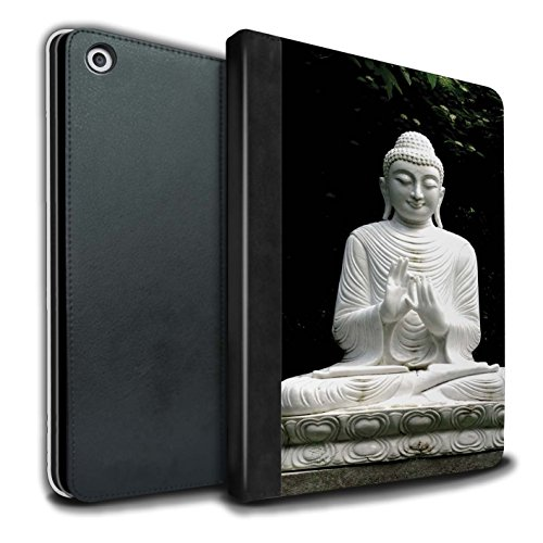 �lle/Case/Brieftasche für Apple iPad 9.7 (2017) Tablet/Stein Buddha Muster/Innerer Frieden Kollektion ()
