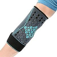BESPORTBLE Apoyo de compresión de Codo Apoyo de Codo para tendinitis Golfistas Codo de Tenis Codo (Azul, S)