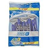 Wilkinson Sword 70000570 - Rasoio Usa e Getta Extra 3 Essentials - Rasoio a 3 Lame per Uomo - Confezione da 8 Rasoi + 4 in Omaggio