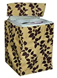 #3: Yellow Weaves Waterproof & Dust-proof Top Load Fully Automatic Washing Machine Cover for Only 6.5Kg ,7Kg,7.5Kg,8Kg- Brown Color