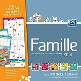 Oxford - 1 Calendrier Mensuel Famille - Janvier à Décembre 2018 - 30x30cm - Plusieurs Coloris Disponibles