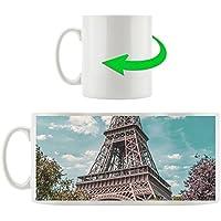 Torre Eiffel su una chiara, tazza motivi in ??bianco 300ml ceramica, grande idea regalo per ogni occasione. La tua nuova tazza preferita per caffè, tè e bevande calde.