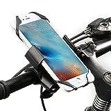 Fahrrad Handyhalter, ipow stark Metall Fahrradhalterung mit Rumschutz Handyhalterung, kompetibel mit alle Smartphone und Fahrrad & Motorradlenker, passt Handy und Navi wie iPhone Xr/ 8/ 7/ 6s Plus/se, Samsung Galaxy, LG u.s.w