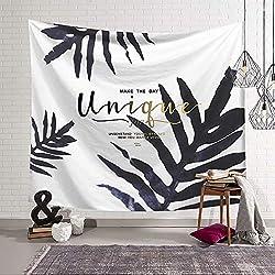 YOMIA - Tapiz de Pared, diseño Vintage de Ciervo Medieval, Decorativo, para Colgar en la Pared, Color Blanco y Negro