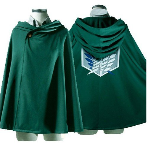 Attack On Titan Shingeki No Kyojin Cloak Cape Clothes pour Cosplay Costume