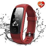 Fitness Tracker, Tracker Attività di Runme, Orologio Fitness con Monitor Sonno e Frequenza Cardiaca, Cinturino Smart Protezione IP67 con Pedometro, Localizzatore GPS, per Smartphone Android/IOS