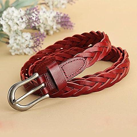 Linguetta fibbia della cintura cinghie tessute gli uomini , red