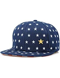 LOCOMO Men Women Embroidered Star Striped US Flag Brim Baseball Cap FFH071