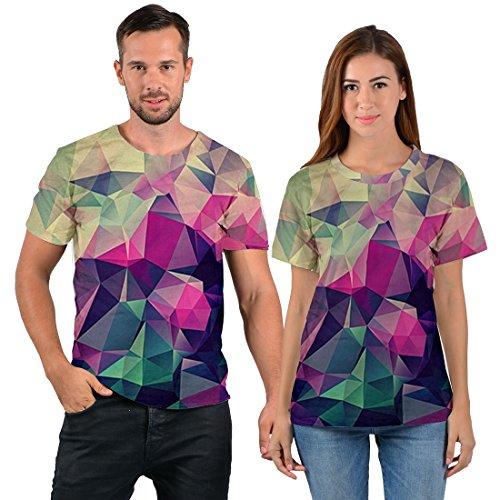uideazone Mens 3D-Druck-Hipster Hemd mit Kurzen Ärmeln Lässige Graphics Tees galaxy51