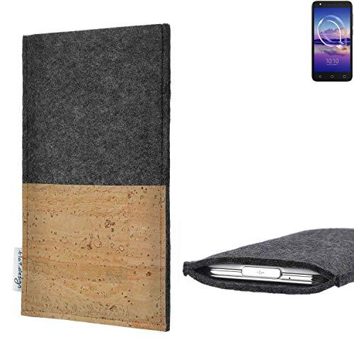 flat.design vegane Handy Hülle Evora für Alcatel U5 HD Single SIM Kartenfach Kork Schutz Tasche handgemacht fair vegan