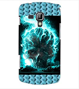 ColourCraft Flaming Skull Design Back Case Cover for SAMSUNG GALAXY S DUOS S7562