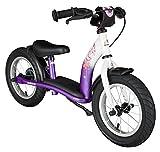 BIKESTAR Laufrad für Kinder im Alter von 3 Jahren, mit Luftreifen und Bremsen, 30,5 cm, Classic Edition, Lila und Weiß