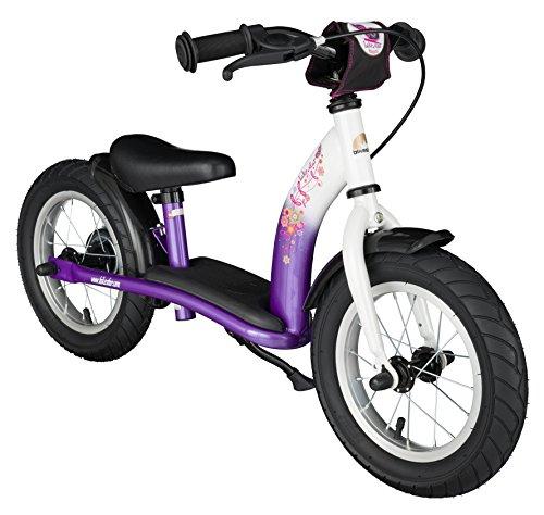 BIKESTAR® 30.5cm (12 pouces) Vélo Draisienne pour enfants ★ Edition Classic ★ Couleur Lilas & Blanc