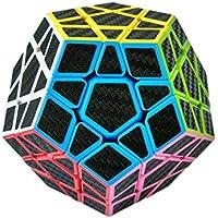 Megaminx cubo, fibra de carbono cubo mágico rompecabezas - Peluches y Puzzles precios baratos