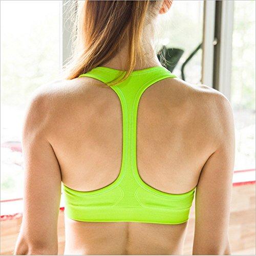 Swallowuk Damen Sport BH Keine Felgen Yoga-Kleidung Fitness Laufweste (M, Grün)