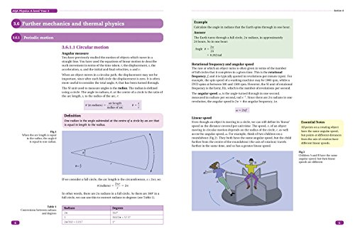 AQA A Level Physics Year 2 Sections 6, 7 and 8: Further mechanics, Electric and magnetic fields, Nuclear and particle physics (Collins Student Support Materials)