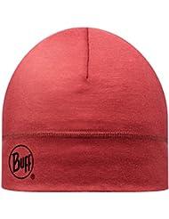 BUFF® Merino GORRA (1 capa, 2 capas o térmica - Beanie Accesorio de cabeza + UP®-Llavero), BUFF Merino Hat:Rooibos tea - 1L Hat Merino