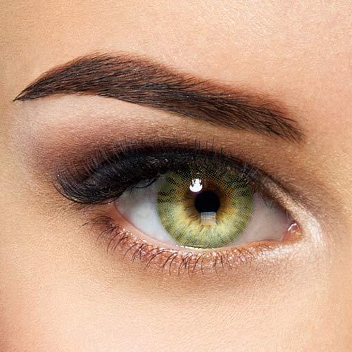 Premium Jahreslinsen natürliche Hidrocor farbige Kontaktlinsen Mel - grün ohne Stärke (2 Stück)