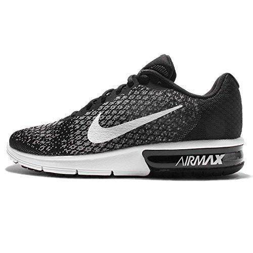 Nike Mens Air Max Sequent 2 Scarpe Da Corsa Nere (nero / Bianco / Dk Grigio / Lupo Grigio / Volt)