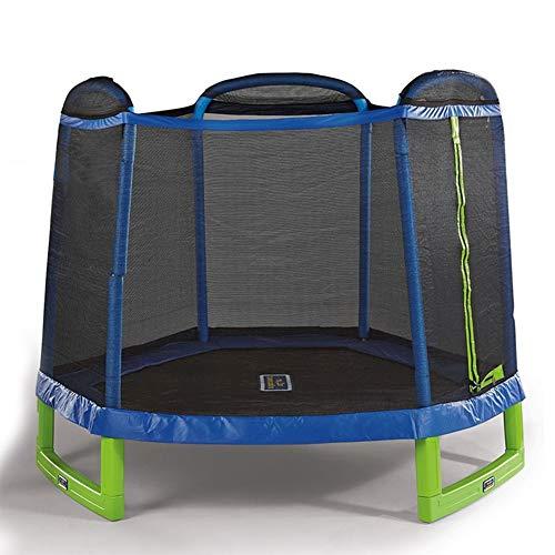 Trampolin Outdoor Indoor Kinder,Gartentrampoline mit Schutzgitter Trampolin Kinder Erwachsene,Jumping Fitness Trampolin Cardio Workout Garden Übungs Kindertrampolin Nutzergewicht bis 120kg