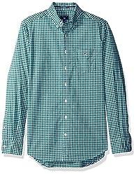 GANT Mens Classic Gingham Shirt, Ivy Green, S