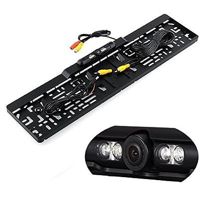 YMPA-Rckfahrsystem-Einparkhilfe-127-cm-5-Zoll-Inch-TFT-LCD-Spiegel-Monitor-Innenspiegel-Rckspiegel-Rckfahrkamera-Kennzeichen-Nummernschild-Halterung-6-M-Kabel-Auto-PKW-KFZ-Wohnmobil