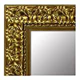 Arte Y Antigüedades Espejo De Pared Antiguo Ovalado Oro Blanco Baño 51x37 Shabby Barroca C496 Muebles Antiguos Y Decoración