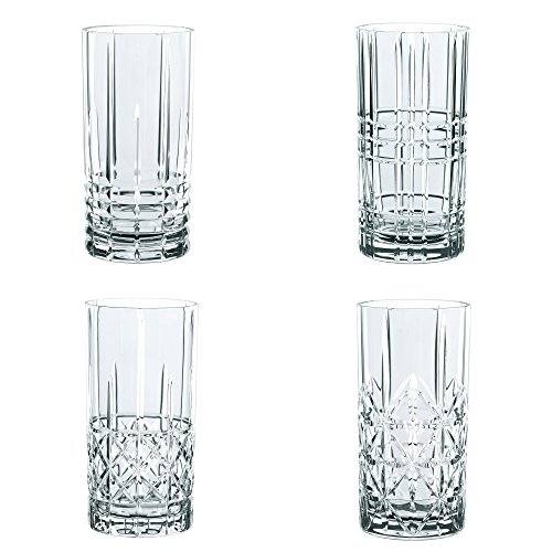 Spiegelau & Nachtmann, 4-teiliges Longdrink-Set, Kristallglas, 445 ml, Highland, 0097784-0 (Highball-glas)