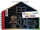 Kratzelzauber Bunte Häuser (Kratzelbuch in Hausform): Formgestanztes Kratzelbuch in Hausform. Mit Holz-Kratzstift, 20 Kratzelseiten, 20 Malanregungen und 40 Skizzenseiten.