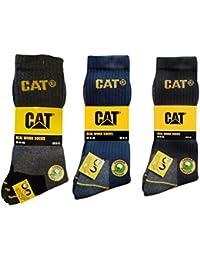 CAT Caterpillar Herren Universal Arbeitssocken, 6|9|12|24 Paar MEGA-Farb- und Größenauswahl in Schwarz, Blau, Grau in 35-40 | 41-45 | 46-50 (Übergröße), Socken